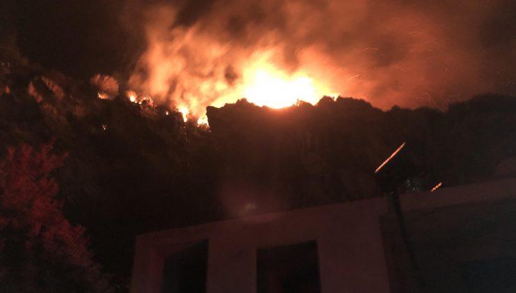 Hatay'da çıkan yangın 6 saat sonra söndürüldü soğutma yapılıyor