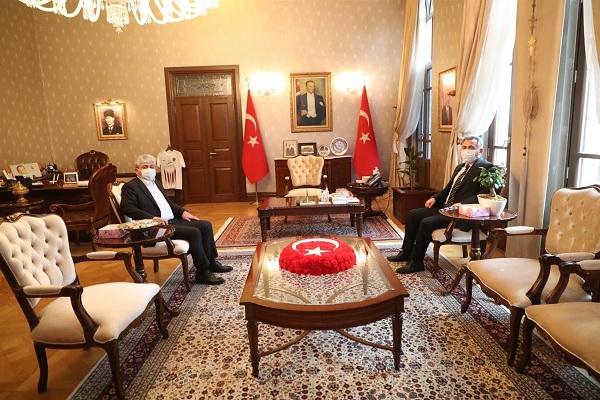 Adana Valisi Elban'dan Vali Doğan'a Ziyaret