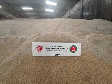 Hatay'da genetiği değiştirilmiş 5 bin ton pirinç ele geçirildi
