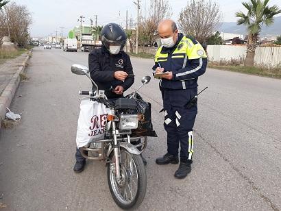 Payas'ta motosiklet uygulaması