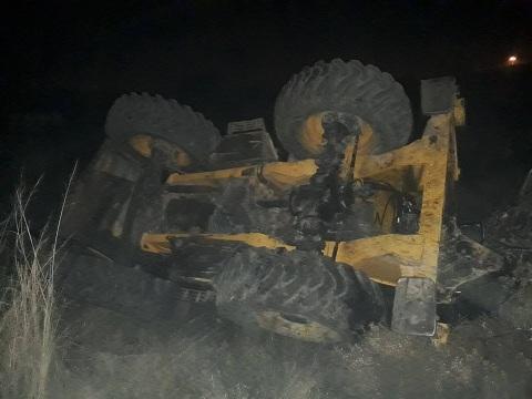 Hatay'da yük treni iş makinasına çarptı: 1 yaralı