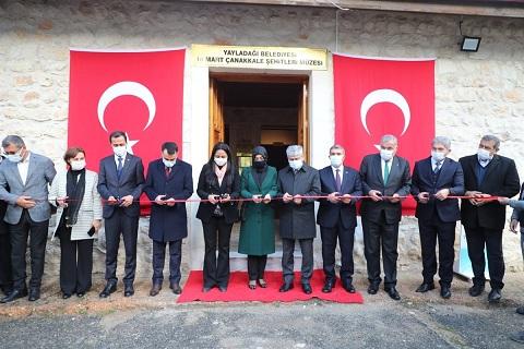 Şenköy'de 18 Mart Çanakkale Şehitleri Müzesi açıldı
