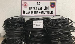 Arsuz'da kablo hırsızları tutuklandı