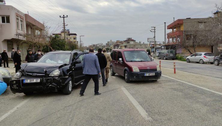 Samandağ'da trafik kazası