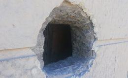 Beton duvarı delip güvercinleri çaldılar