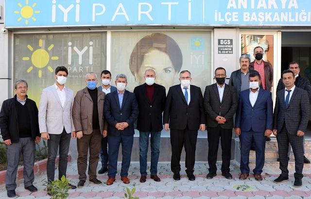 Hatay Saadet'ten İYİ Parti İl Başkan Çirkin'e hayırlı olsun ziyareti