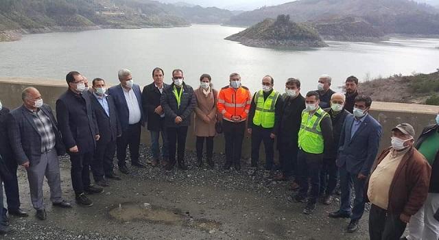 AK Parti heyetinden Büyük Karaçay Barajına denetim