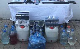 Jandarmadan sahte alkol satan büfelere operasyon