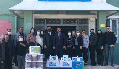 MKÜ araştırma hastanesinden okullara hijyen desteği