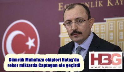 Gümrük Muhafaza ekipleri Hatay'da rekor miktarda Captagon ele geçirdi