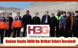 Bakan Soylu İdlib'de Briket Evleri İnceledi