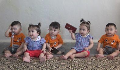 Suudi Arabistan'dan Hatay'a getirilen beşiz bebeklere mama ve bez yardımı geldi