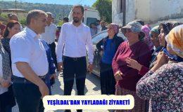 YEŞİLDAL'DAN YAYLADAĞI ZİYARETİ