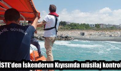 İSTE'den İskenderun kıyısında müsilaj kontrolü