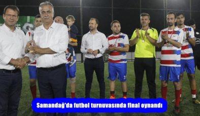 Samandağ'da futbol turnuvasında final oynandı