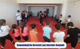 Samandağ'da ücretsiz yaz kursları başladı