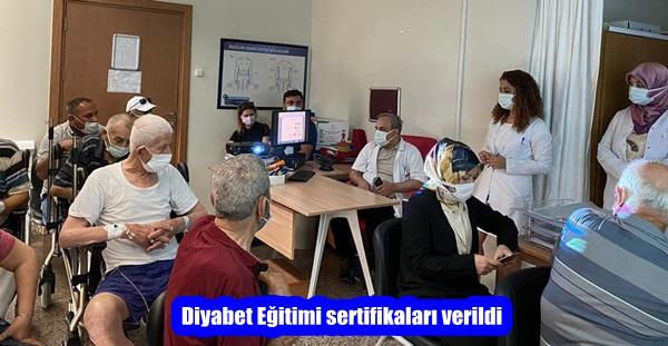 Diyabet Eğitimi sertifikaları verildi