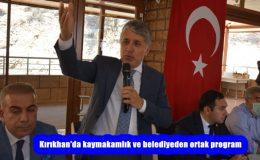 Kırıkhan'da kaymakamlık ve belediyeden ortak program