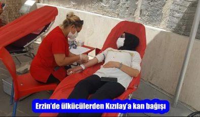 Erzin'de ülkücülerden Kızılay'a kan bağışı