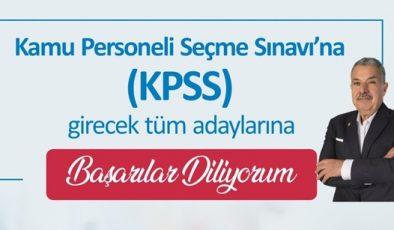 """Yılmaz: """"KPSS'ye girecek adaylara başarılar diliyorum"""""""