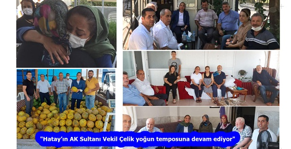"""""""Hatay'ın AK Sultanı Vekil Çelik yoğun temposuna devam ediyor"""""""