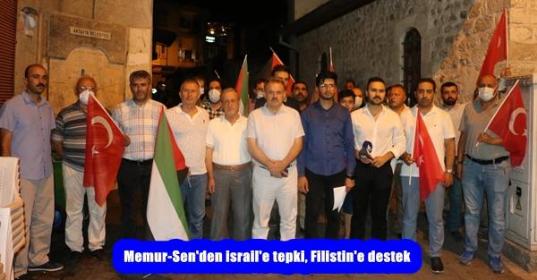 Memur-Sen'den israil'e tepki, Filistin'e destek