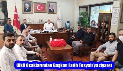Ülkü Ocaklarından Başkan Fatih Tosyalı'ya ziyaret