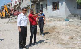 Samandağ'da fen işleri ekipleri çalışıyor