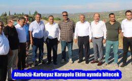 Altınözü-Karbeyaz Karayolu Ekim ayında bitecek