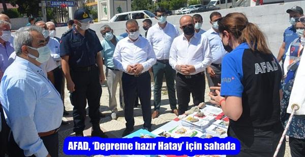 AFAD, 'Depreme hazır Hatay' için sahada