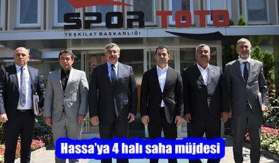 Hassa'ya 4 halı saha müjdesi