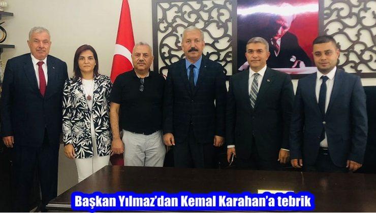Başkan Yılmaz'dan Kemal Karahan'a tebrik