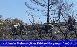 """Otuz dokuzlu Mehmetçikler Dörtyol'da yangın """"soğuttular"""""""