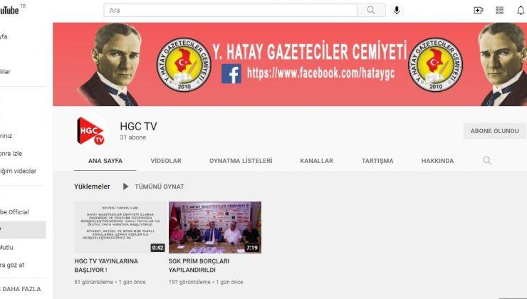 HGC TV Youtube kanalı hizmete girdi
