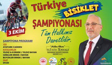 Tosyalı: Türkiye Bisiklet Şampiyonası İskenderun'da yapılacak