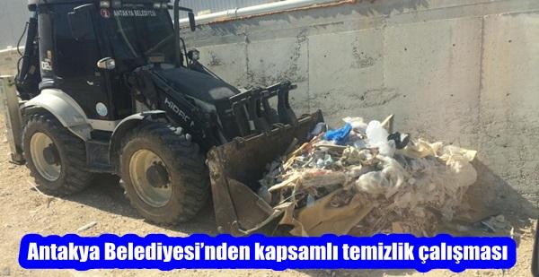 Antakya Belediyesi'nden kapsamlı temizlik çalışması