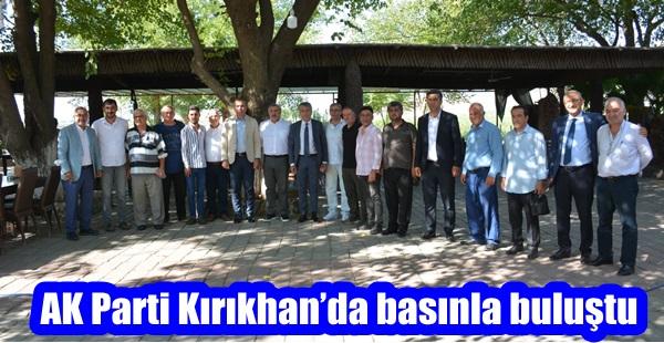 AK Parti Kırıkhan'da basınla buluştu