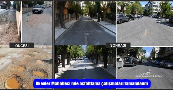Akevler Mahallesi'nde asfaltlama çalışmaları tamamlandı