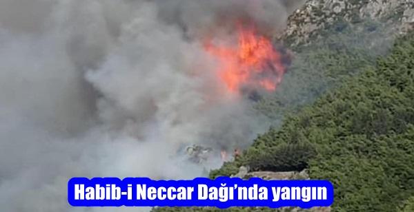Habib-i Neccar Dağı'nda yangın