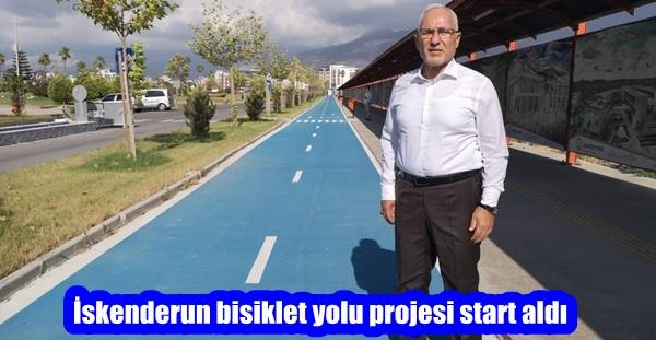 İskenderun bisiklet yolu projesi start aldı