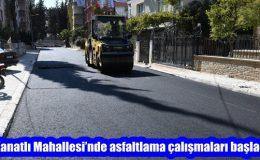 Kanatlı Mahallesi'nde asfaltlama çalışmaları başladı