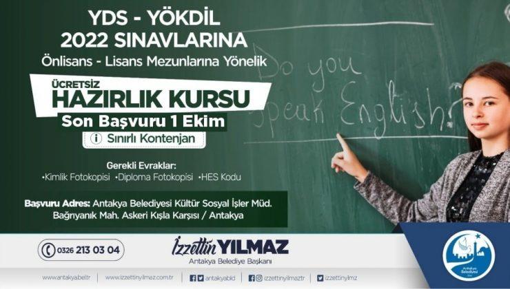 Antakya Belediyesi'nden ücretsiz YDS – YÖKDİL hazırlık kursu