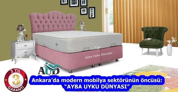 """Ankara'da modern mobilya sektörünün öncüsü: """"AYBA UYKU DÜNYASI"""""""