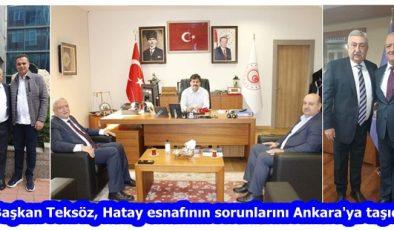 """""""Başkan Teksöz, Hatay esnafının sorunlarını Ankara'ya taşıdı"""""""