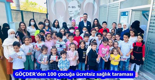 GÖÇDER'den 100 çocuğa ücretsiz sağlık taraması