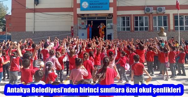 Antakya Belediyesi'nden birinci sınıflara özel okul şenlikleri