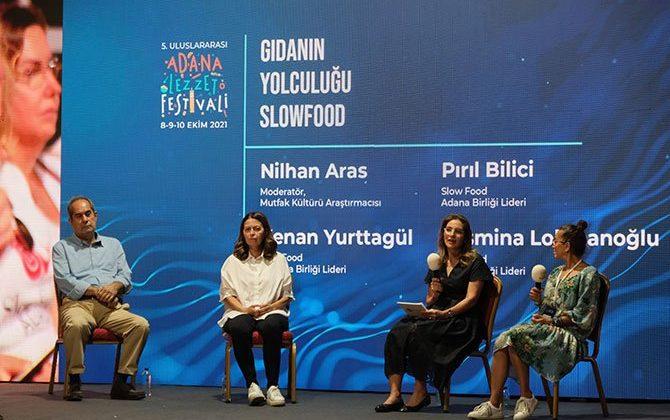"""Yurttagül,  Adana'da """"Gıdanın Yolculuğu"""" oturumuna katıldı"""